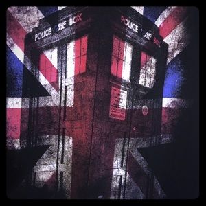Doctor Who (Dr Who) License Graphic Tee Union Jack